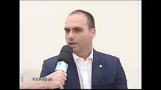 Eduardo Bolsonaro em Bauru: agenda local, apoios a JB, apoio de partidos e vice (19/JUL/2018)