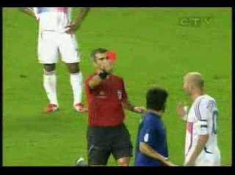 Zidane headbutts Materazzi - BEST ANGLE ***** Video