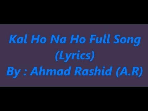 Kal Ho Na Ho - Lyrics video