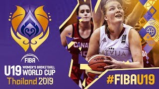 Latvia v Canada - Full Game - FIBA U19 Women's Basketball World Cup 2019