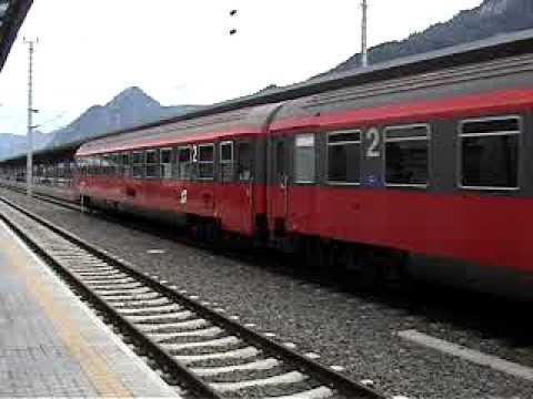"Europe Rail 2001 ÖBB  Bahnhof Jenbach  1044 IC 512 ""Radio Steiermark ""(Graz→Innsbruck ) 2001.9.1"