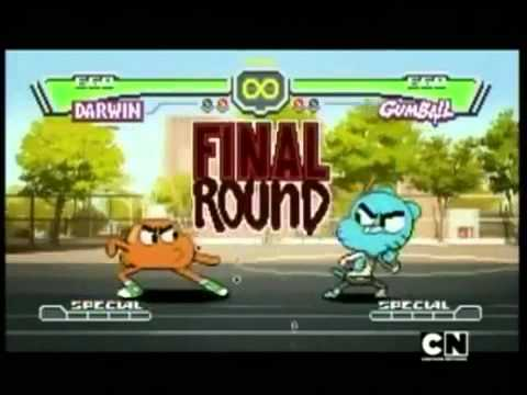 el increible mundo de gumball pelea darwin vs gumball