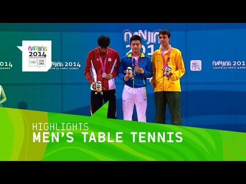 Fan Zhendong Wins Men's Table Tennis Gold - Highlights | Nanjing 2014 Youth Olympic Games