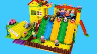 Peppa Pig Blocks Mega House Construction Lego Sets With Masha And The Bear Toys For Kids 4