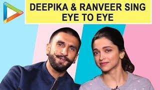 Deepika Padukone & Ranveer Singh sing the viral song EYE TO EYE | Ranveer Deepika Marriage