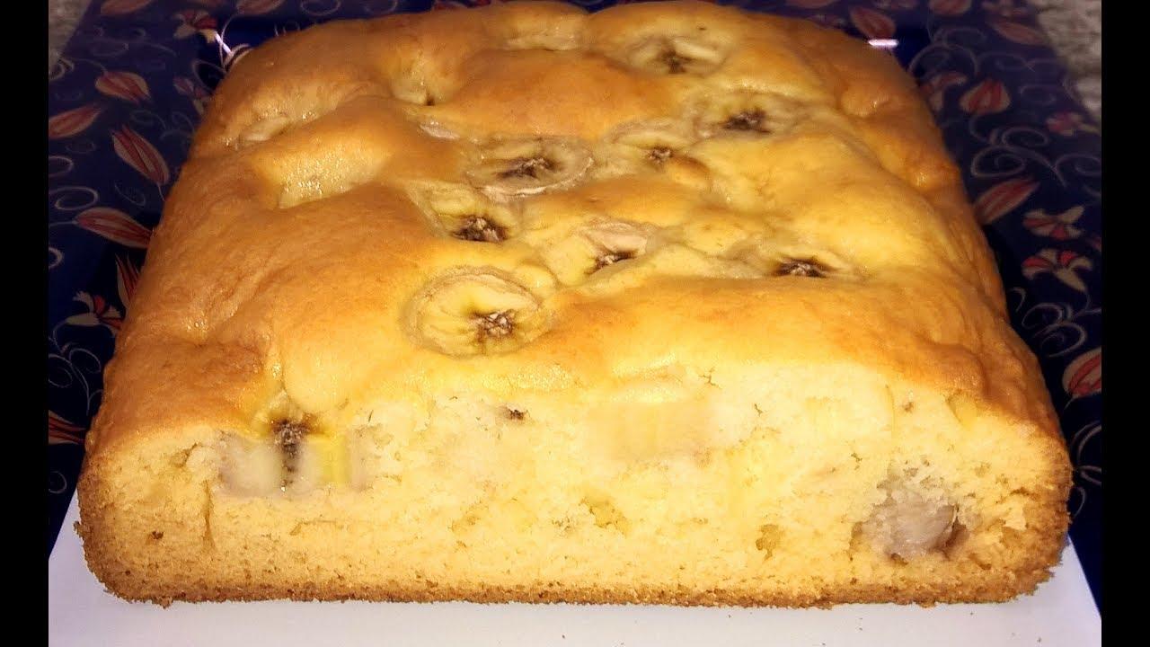 пирог с кефиром и бананами рецепт с фото пошагово в духовке