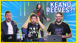 Keanu Reeves Cyberpunk Live Reaction Freakout! - Kinda Funny Live Reactions