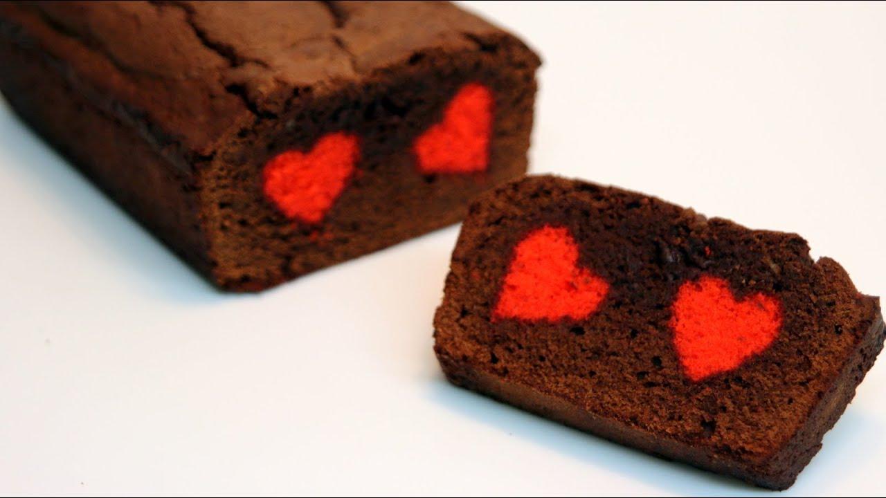 Beautiful Chocolate Heart Cake