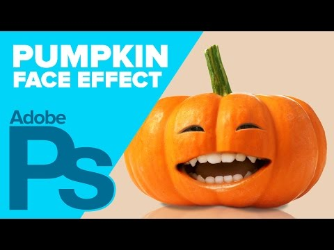 0 Pumpkin Face in Photoshop