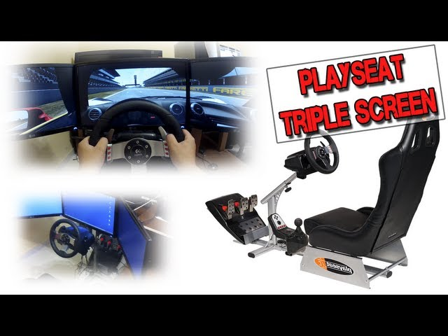 Playseat Triple screen (Fabricación) (Playseat Alcantara, LG IPS 23)