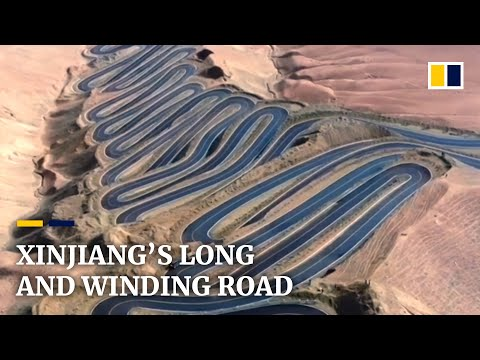 Xinjiang's long and winding road with more than 600 hairpin bends