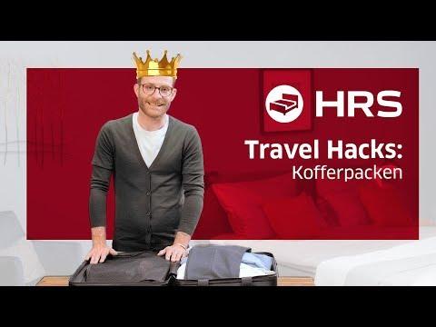 ► Platzsparend Kofferpacken, 10 Tipps ✓ Besser unterwegs mit HRS ║Koffer packen hacks