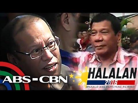 Bandila: Aquino congratulates Duterte for Halalan 2016 victory