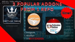 Get 3 Popular Addons From ONE Repo [Exodus Fork 6, Neptune Rising, & Placenta]