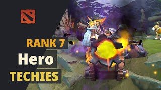 Hero (Rank 7) plays Techies Dota 2 Full Game