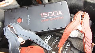Lithium 1500A Car Jump Starter with Quick Charge 3.0 by TrekPow