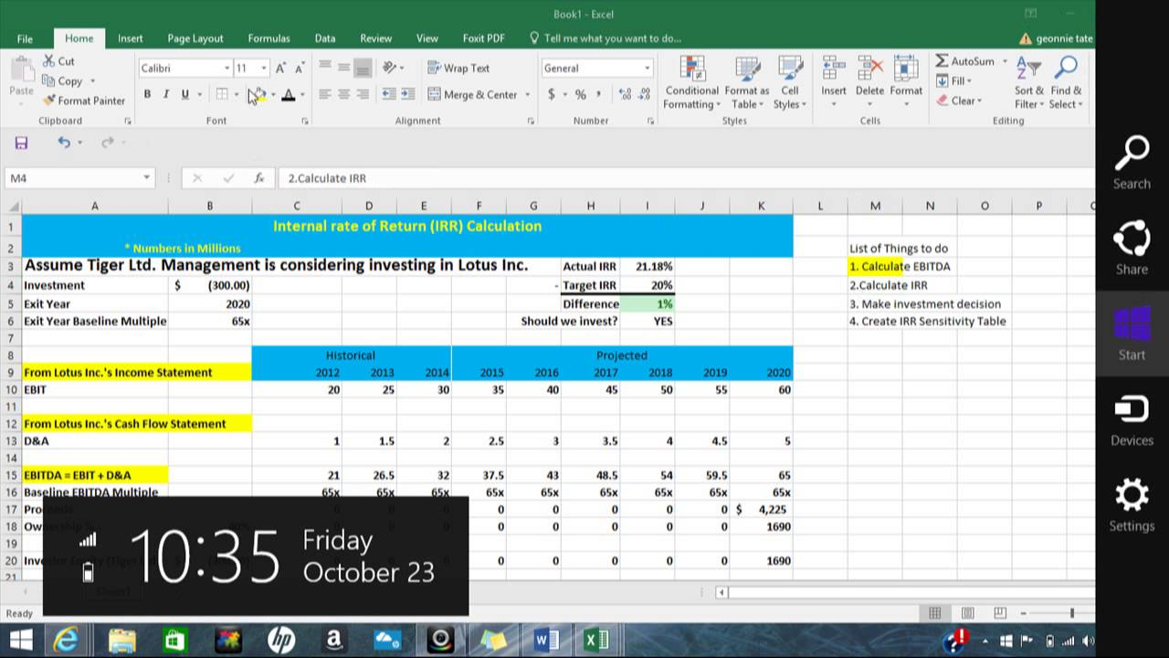 Excel Irr Template