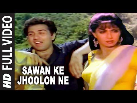 Sawan Ke Jhoolon Ne Full Song | Nigahen | Sridevi Sunny Deol