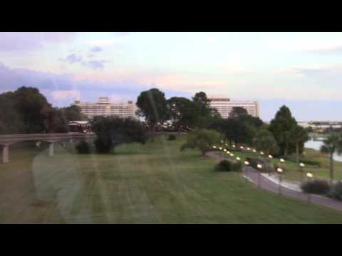 Monorail Ride from Grand Floridian Resort to Magic...