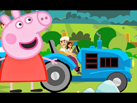 The Farmer In The Dell With Peppa Pig 4k Video