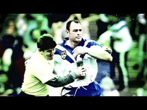 It was the 1998 Preliminary Final, Bulldogs v Eels, 18 - 16 with only a few minutes remaining, Daryl Halligan was given a high pressure task, to kick a sideline conversion to level up the scores.