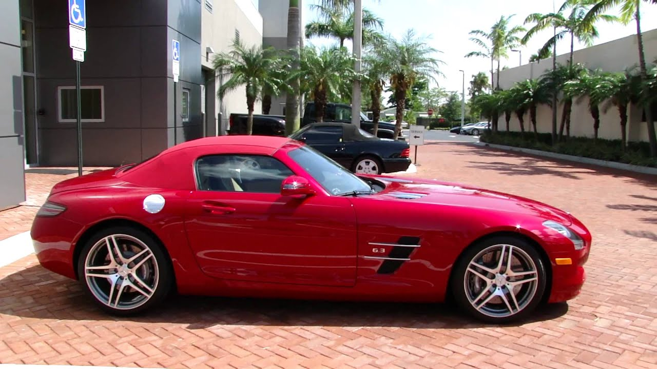 Mercedes Benz Sls Amg Review >> LeMans red Mercedes SLS Roadster with Milan Red top at ...