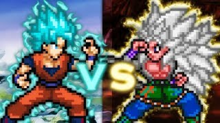 {Sprite Move Fight} Goku(super) ssj  Blue  Vs Goku(AF) ssj 5