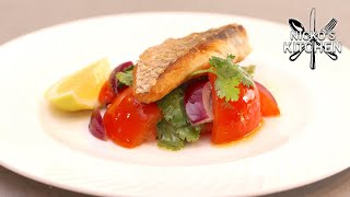 Grilled Snapper with Tomato Salad   Low Carb Recipe