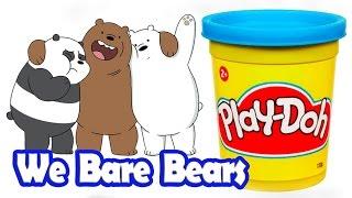Playdoh Đồ chơi đất nặn - We Bare Bears ● Anh Em Nhà Gấu - Playdoh Videos by Kids Smile