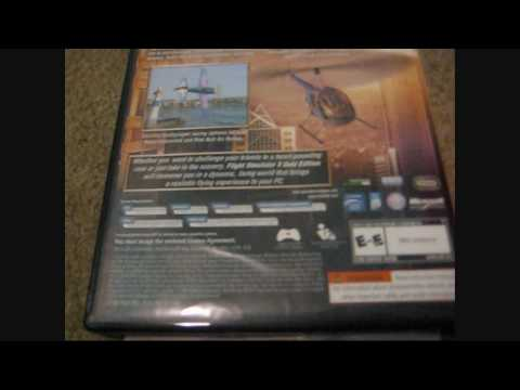 Unboxing and Review Microsoft Flight Simulator X Gold Edition (fsx) HD Part pt.1