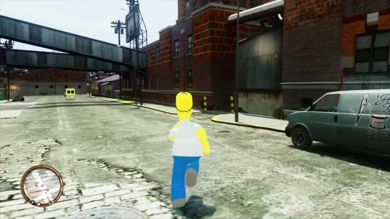 Homer simpson in gta iv 1080p youtube