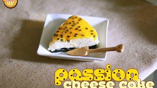 Bánh phô mai chanh dây (Passion cheese cake) - Bếp nhà Nắng