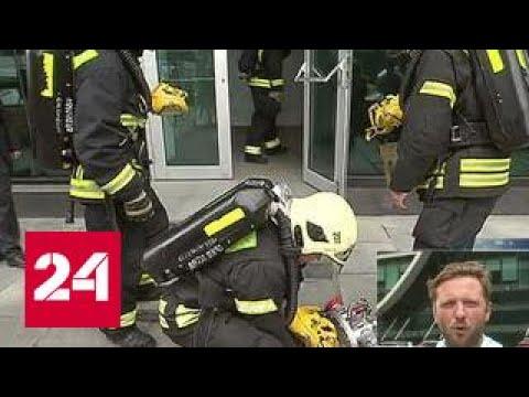 В Москва-Сити пожарные спасают башню Империя