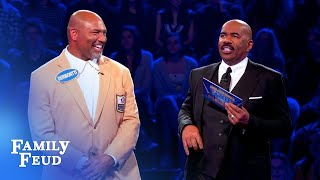 TOUCHDOWN! The NFLPA Legends play Fast Money! | Celebrity Family Feud