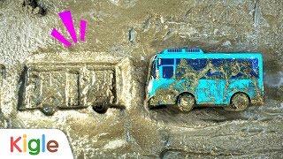 시멘트에 빠졌어요!   시멘트에 낙서하다 빠져버린 타요!   타요 슈퍼구조대 03화   꼬마버스 타요   키글TV
