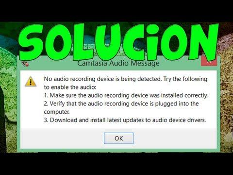 Camtasia Recorder FIX Dispositivo de sonido Error Solución Tutorial ¡FUNCIONA! (Windows 8 7 XP)