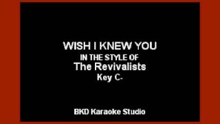 download lagu Wish I Knew You In The Style Of The gratis
