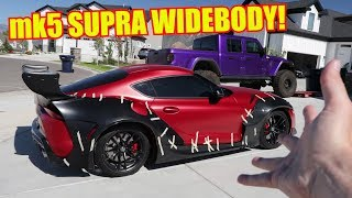 Rocket Bunny Widebody Test Fit on my Toyota Supra!