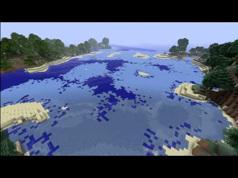 Minecraft climate change timelapse.