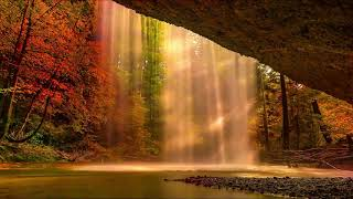 waterfall sounds and relaxing music, for sleep, concentration, yoga