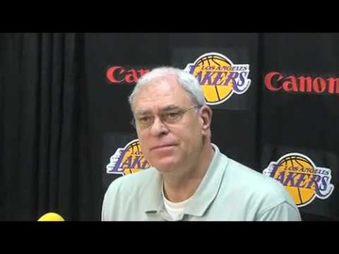 Lakers Coach Phil Jackson on Kobe Bryant and Andrew Bynum's recovery