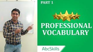 Professional Vocabulary Part - 1