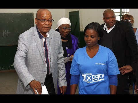 South Africa elections: President Jacob Zuma casts his vote