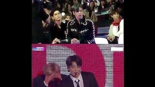171201 Wanna One(워너원) [Daniel & Seogwoo] reaction to BTS(방탄소년단) - MIC DROP(Remix Ver) @MAMA