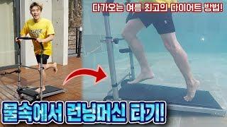 Underwater treadmill like Zero Gravity !