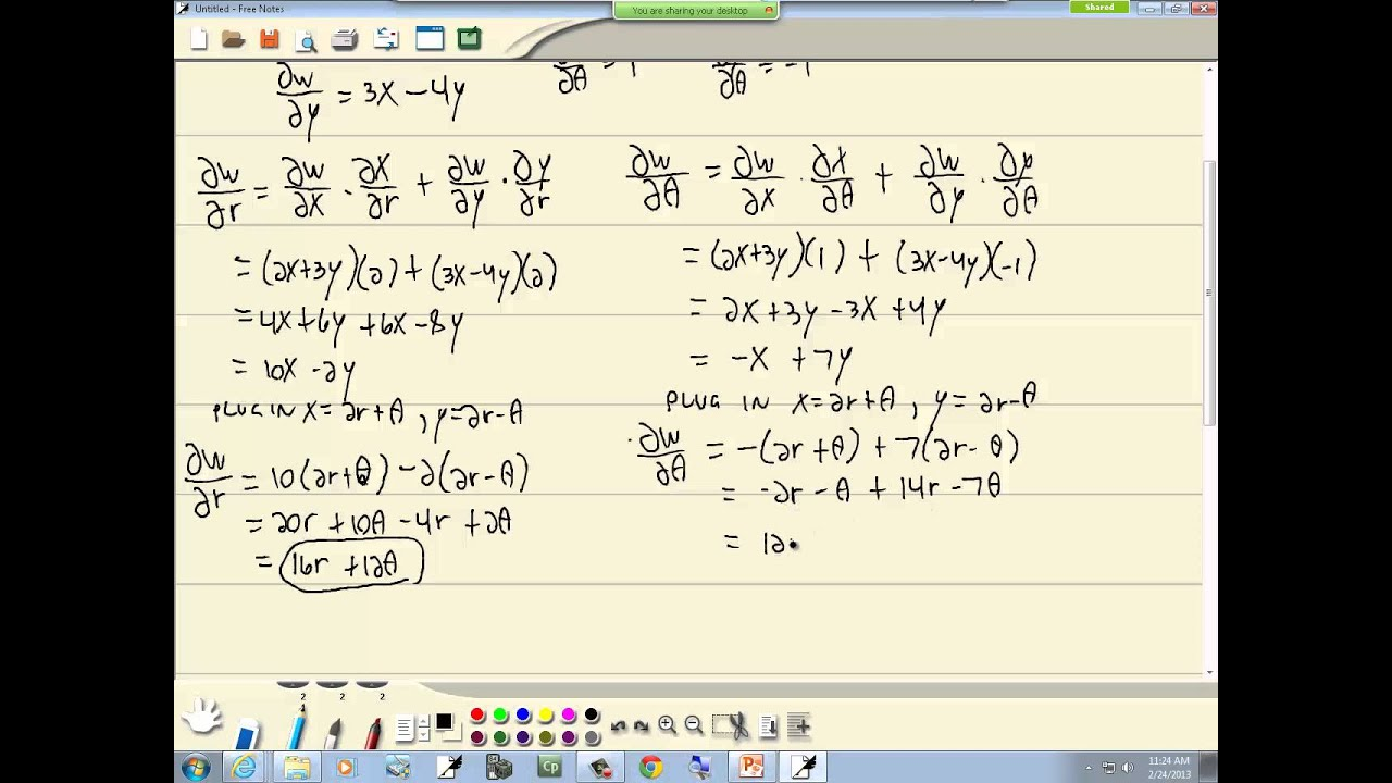 Chain rule for functions of several variables