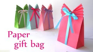 DIY simple Paper GIFT BAG craft | DIY crafts for gift