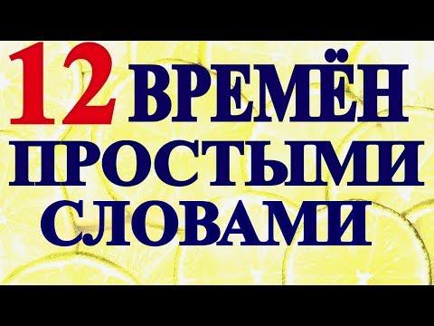 ВРЕМЕНА АНГЛИЙСКОГО Языка - 12 ВРЕМЕН За 18 Минут - Времена Английского Глагола в Доступной Форме