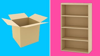 5 CARDBOARD FURNITURES IDEAS | BEST OUT OF WASTE CRAFT | EASY CARDBOARD DIY | WASTE MATERIAL CRAFT