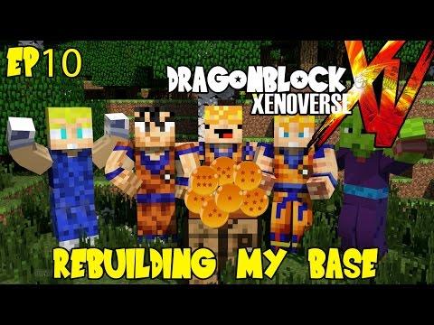 Dragon Block Xenoverse: Secret Base Destroyed! Time To Rebuild (dragon Ball Z Minecraft Ep 10) video